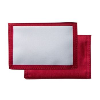 Personalised Nylon Thin Wallet - Red